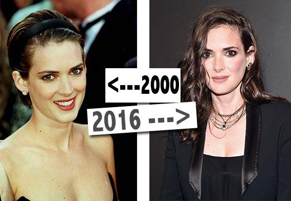 "<p>Winona is another salad loving celebrity. <a href=""https://www.yahoo.com/beauty/jennifer-aniston-opens-up-on-aging-style-perfect-94103877638.html"">According to her make-up artist</a>, she also guzzles water and doesn't wear much make-up: all skin-saving gems. <i>[Photo: PA/Getty/Yahoo Style UK]</i></p>"