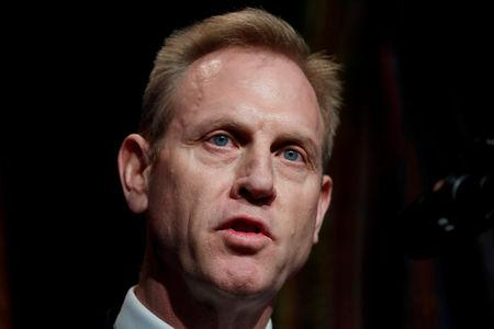 FILE PHOTO: Acting U.S. Secretary of Defense Patrick Shanahan speaks at Missile Defense Review announcement at the Pentagon in Arlington, Virginia