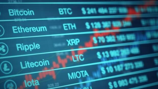 A cryptocurrency exchange rate panel. York Regional Police are warning about scams in which victims are promised they can make money through crypto investing.  (Shutterstock / lucadp - image credit)