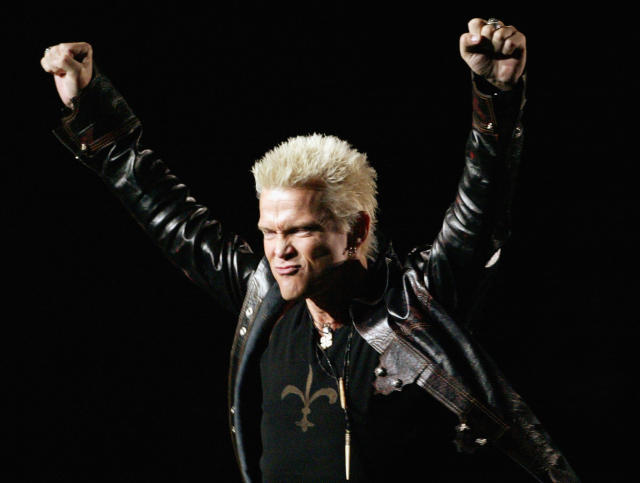 Billy Idol paid tribute to the royal wedding. (Photo: Nick Wilson/Getty Images)