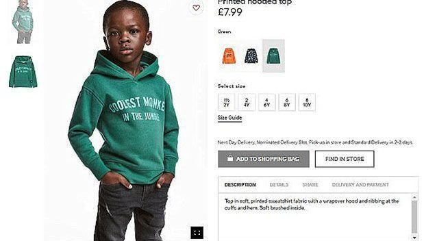 H&M received backlash for this advert. Photo: H&M