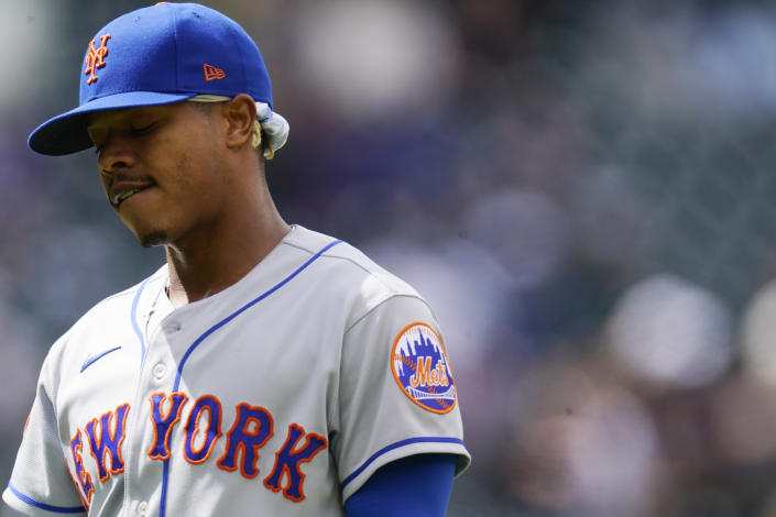 Mets pitcher Marcus Stroman doesn't need the likes of Bob Brenly reminding him of the challenges of being Black in baseball. (AP Photo/David Zalubowski)