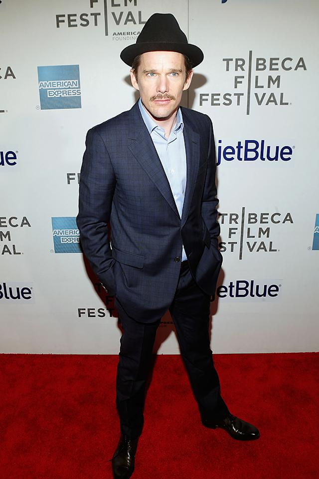 "NEW YORK, NY - APRIL 22: Actor Ethan Hawke attends the ""Before Midnight"" New York premiere during the 2013 Tribeca Film Festival on April 22, 2013 in New York City. (Photo by Jemal Countess/Getty Images for Tribeca Film Festival)"