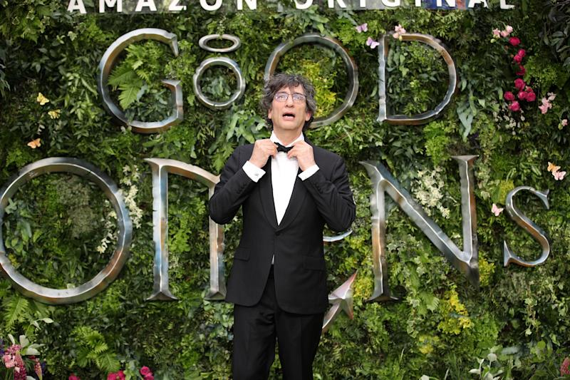 """LONDON, ENGLAND - MAY 28: Neil Gaiman attends the Global premiere of Amazon Original """"Good Omens"""" at Odeon Luxe Leicester Square on May 28, 2019 in London, England. (Photo by Mike Marsland/WireImage)"""