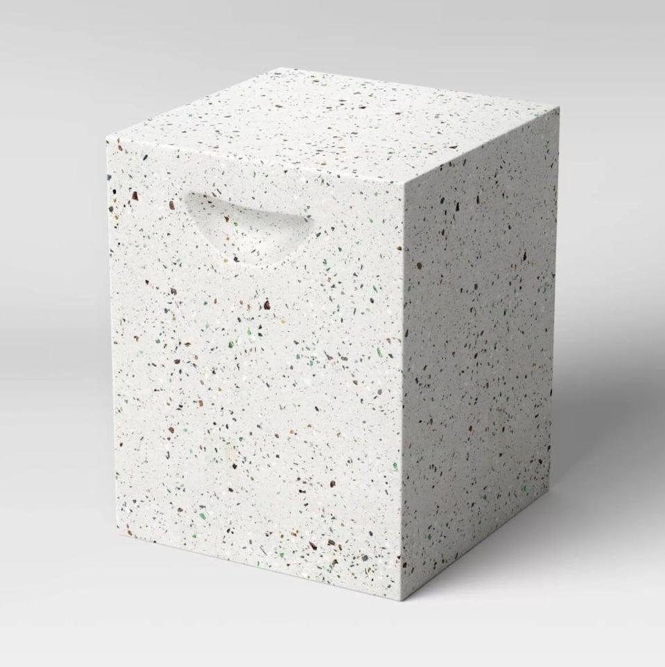 <p>The <span>Project 62 Terrazzo Patio Accent Table</span> ($99) is so stylish, we want to put it inside too.</p>