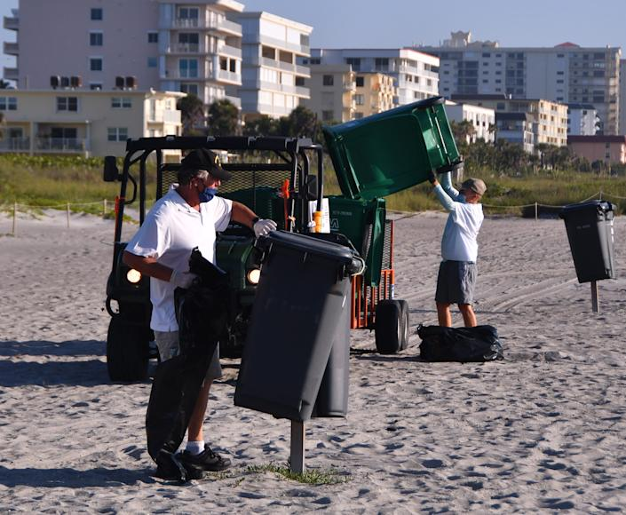 Keep Brevard Beautiful was out early Saturday emptying trash cans near Minutemen Causeway. KBB is running double shifts in some beachside areas to keep up with the litter and trash. Police and beach rangers are stepping up their litter monitoring.