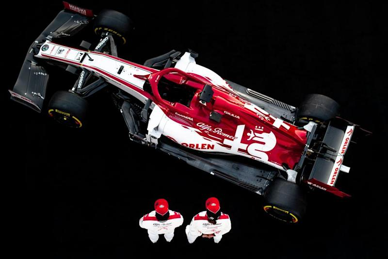 The Alfa Romeo Racing C39 seen at its launch.