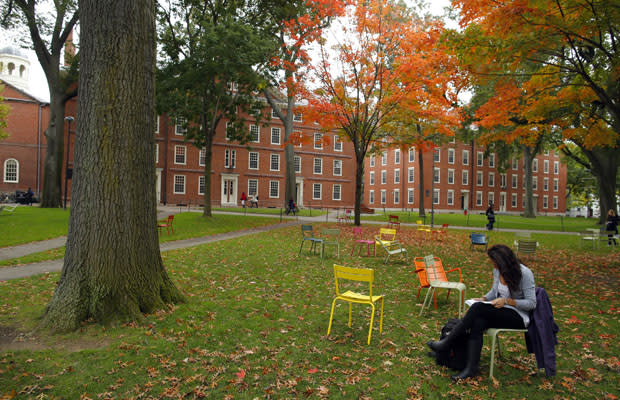 At Harvard Yard. A study ranked Massachusetts No. 1 in education, No. 37 in job creation. REUTERS/Brian Snyder