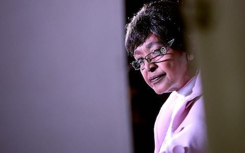 Winnie Madikizela-Mandela, ex-wife of former South African President Nelson Mandela