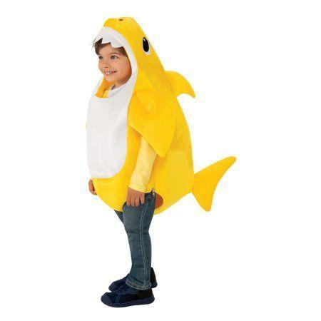 """<p><strong>Baby Shark</strong></p><p>walmart.com</p><p><strong>$14.75</strong></p><p><a href=""""https://go.redirectingat.com?id=74968X1596630&url=https%3A%2F%2Fwww.walmart.com%2Fip%2F397849544&sref=https%3A%2F%2Fwww.countryliving.com%2Fdiy-crafts%2Fg23785711%2Flast-minute-halloween-costumes%2F"""" rel=""""nofollow noopener"""" target=""""_blank"""" data-ylk=""""slk:Shop Now"""" class=""""link rapid-noclick-resp"""">Shop Now</a></p><p>With the most popular video of the <a href=""""https://www.goodhousekeeping.com/life/parenting/a26063054/what-is-baby-shark-song/"""" rel=""""nofollow noopener"""" target=""""_blank"""" data-ylk=""""slk:&quot;Baby Shark&quot; song"""" class=""""link rapid-noclick-resp"""">""""Baby Shark"""" song</a> still earning views on Youtube in the billions, it's becoming apparent that this earworm Will. Just. Never. Stop. If you can't beat 'em, you might as well join 'em with this adorable costume for your little that can be ordered online and shipped in no time.</p>"""