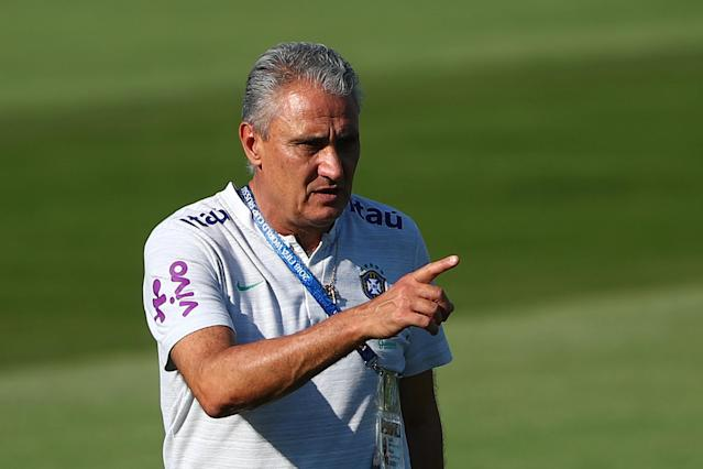 Soccer Football - World Cup - Brazil Training - Brazil Training Camp, Sochi, Russia - June 24, 2018 Brazil coach Tite during training REUTERS/Hannah McKay
