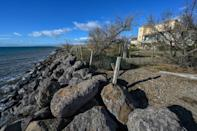 """Amalia Romero, 94, says it """"took some time"""" to realise that the Mediterranean was creeping ever closer to the plot of land on the southern French coast where her family had found refuge and settled after fleeing the Spanish Civil War"""