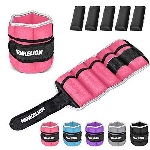 """<p><strong>Henkelion</strong></p><p>amazon.com</p><p><strong>$26.99</strong></p><p><a href=""""https://www.amazon.com/dp/B07VSLJ4ND?tag=syn-yahoo-20&ascsubtag=%5Bartid%7C2140.g.22096300%5Bsrc%7Cyahoo-us"""" rel=""""nofollow noopener"""" target=""""_blank"""" data-ylk=""""slk:Shop Now"""" class=""""link rapid-noclick-resp"""">Shop Now</a></p><p>In case you haven't got the memo yet, '80s = bright colors. So why not make sure your ankle weights fit into the theme, too. </p>"""