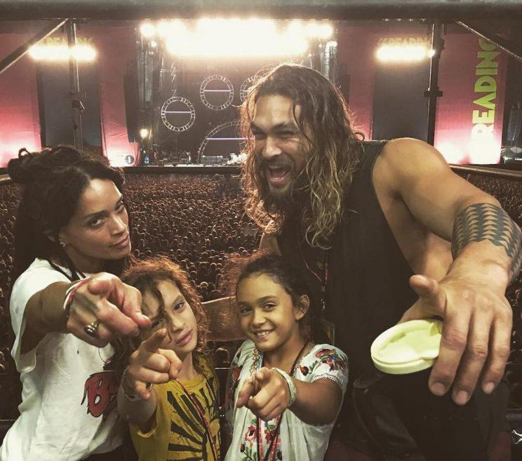 Jason Momoa (with wife Lisa Bonet and their two kids) is a family man! (Photo: Instagram)