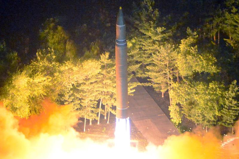 Intercontinental ballistic missile (ICBM) Hwasong-14 during its second test-fire: Reuters