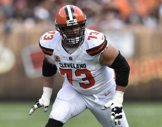 Joe Thomas started every game of his NFL career, and played every snap, until Week 7 torn biceps against Tennessee last year. The Cleveland Browns left tackle announced his retirement on Wednesday. (AP)