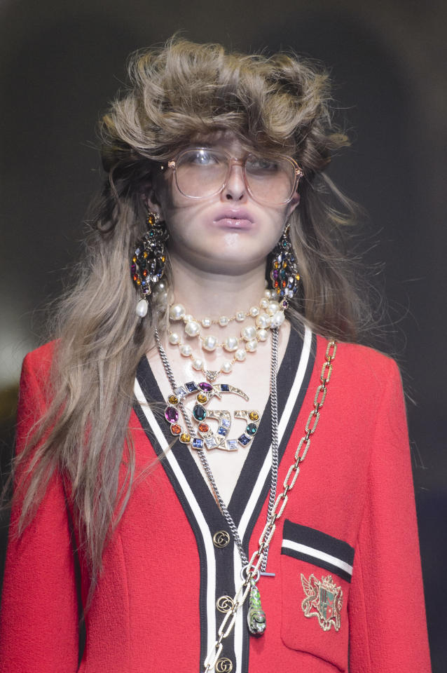 <p><i><em>Working Girl</em>–inspired accessories from the SS18 Gucci collection. (Photo: ImaxTree) </i></p>