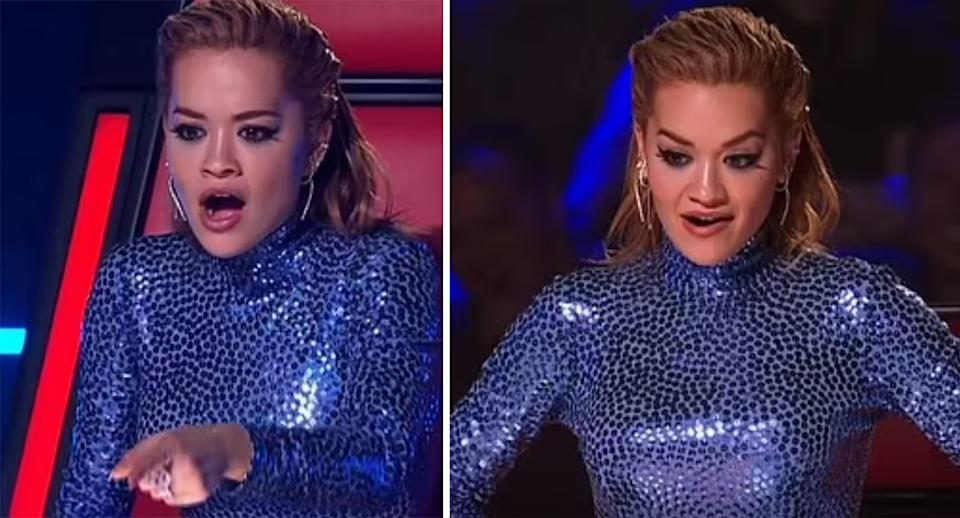 rita ora angry on The Voice