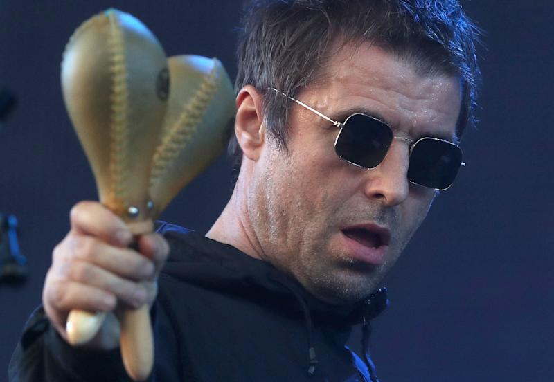 Liam Gallagher performs on the main stage during the TRNSMT festival on Glasgow Green in Glasgow.