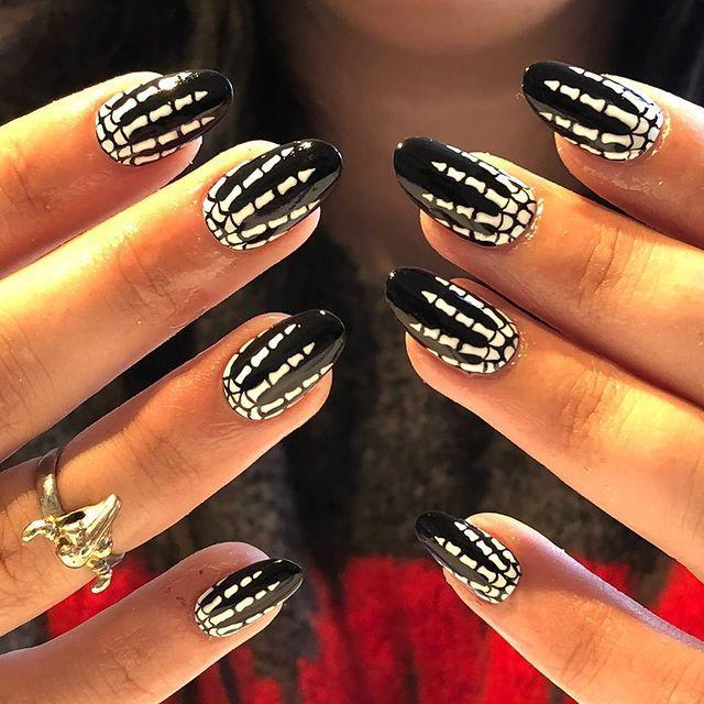 """<p>We love the attention to detail with these. While we would like to think we could do them ourself, we highly doubt it. Your best bet is to ask a skilled nail technician.</p><p><a href=""""https://www.instagram.com/p/B3c5A9hlDbh/"""" rel=""""nofollow noopener"""" target=""""_blank"""" data-ylk=""""slk:See the original post on Instagram"""" class=""""link rapid-noclick-resp"""">See the original post on Instagram</a></p>"""