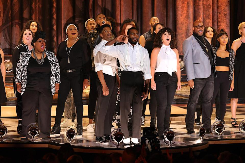 """<p>Calls for social and racial justice were invoked throughout this year's ceremony, including when <em>Tina</em> star Daniel J. Watts took the stage for a spoken-word performance in tribute to the Broadway Advocacy Coalition, which received a special Tony Award for its work combating systemic racism. After a tap dance alongside dancer Jared Grimes, Watts performed a poem calling on viewers to step up and help fight injustice. """"There's nothing wrong with silence, until there is,"""" Watts intoned, later adding, """"What does your silence sound like? / Does it want our songs of freedom for free?"""" It was a reminder of the turbulent year this country has faced, and the substantial progress still left to make.</p>"""