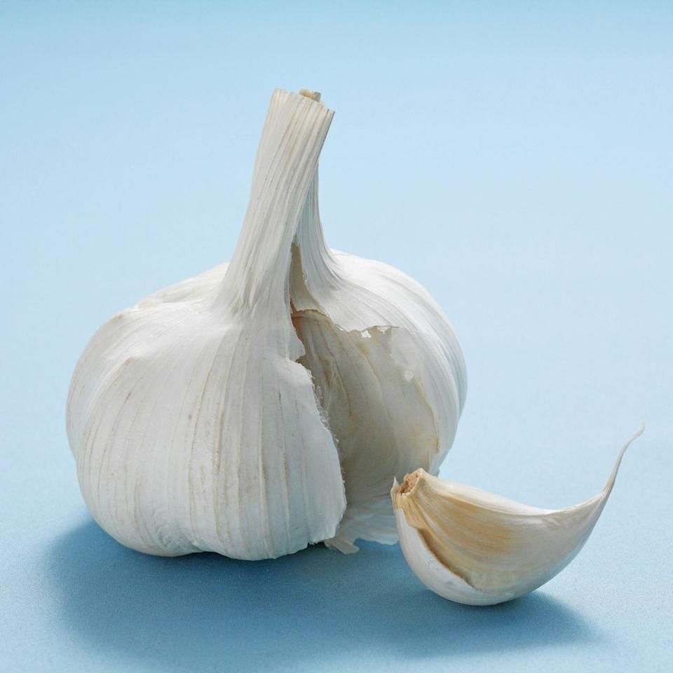 """<p>Garlic is so easy to cook with that you have no excuse not to do so immediately. """"I love adding garlic to stir-fries, grilled veggies like asparagus, and even using it to flavor olive oil,"""" Gorin says. """"Research shows the power herb could help reduce total cholesterol levels, so why not give it a try?""""</p>"""