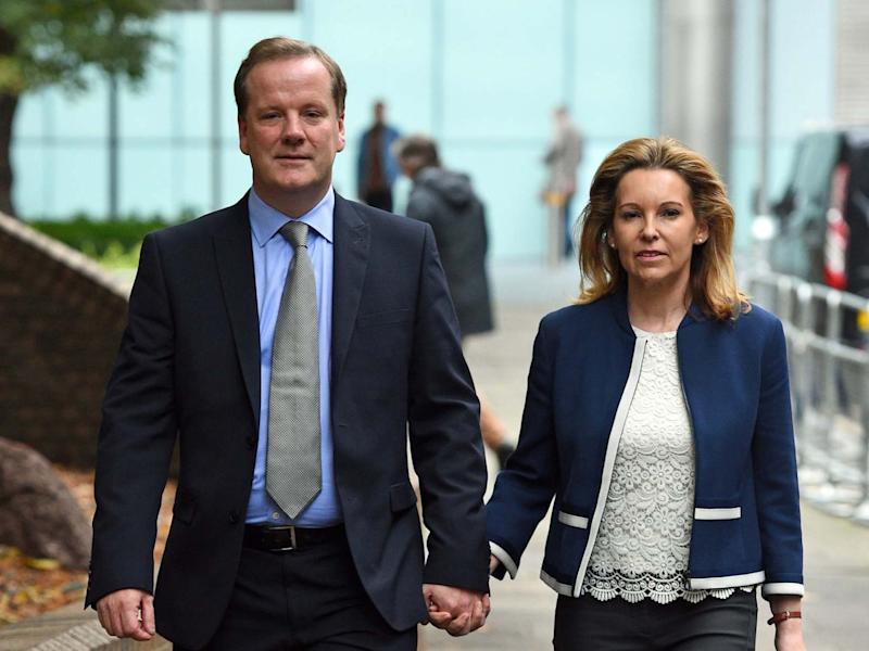 Charlie Elphicke, with his wife Natalie Ross: Kirsty O'Connor/PA Wire