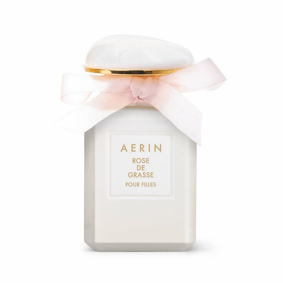 Some of our favorite rose fragrances aren't outrageously rosy but rather find the perfect complements to rose and let those notes share the stage equally. Such is the case with Aerin Rose de Grasse Pour Filles. It absolutely exudes a garden feel, but not strictly a rose garden. Growing alongside the roses are also cyclamen, pear, and orange flower. Soft musk and ambrox are what weave their roots together to create a gentle and happy scent that you'll definitely reach for beyond the warmest season.
