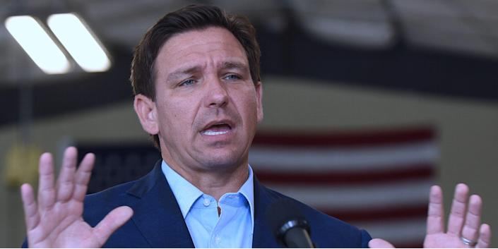Ron DeSantis, the Republican governor of Florida, speaking in an interview.