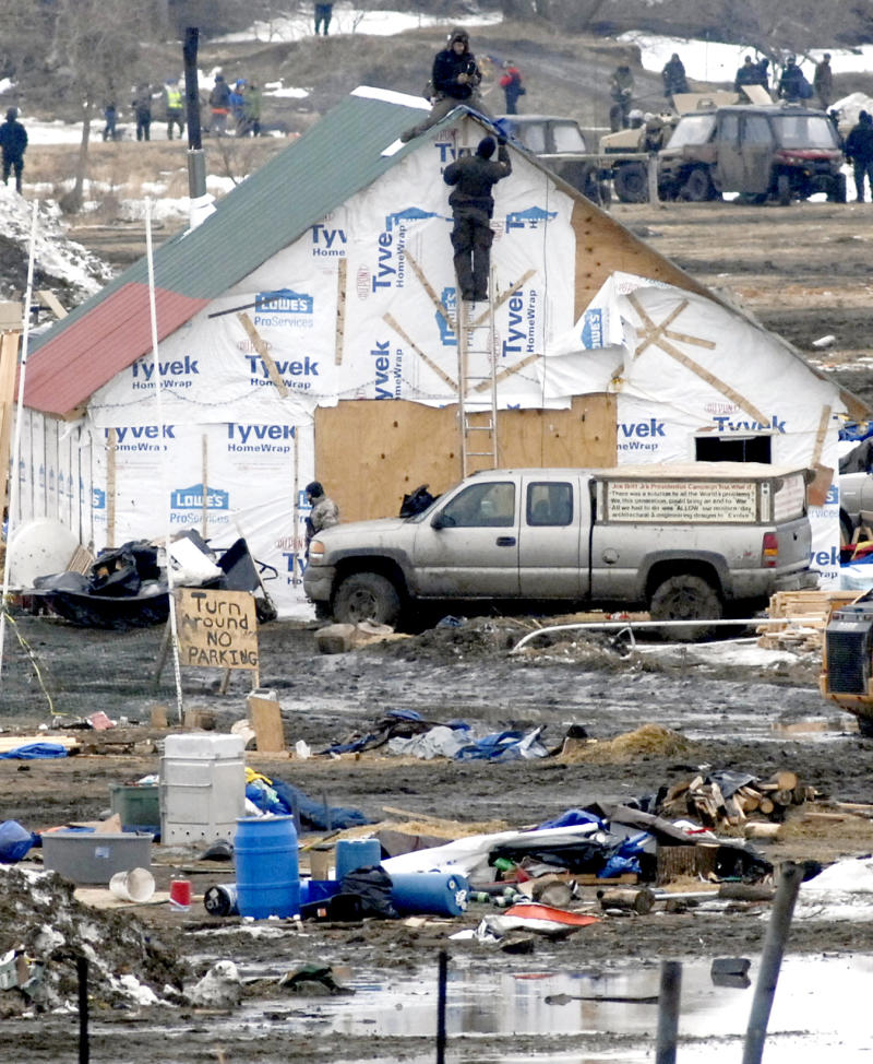Final cleanup begins at Dakota Access pipeline protest camp