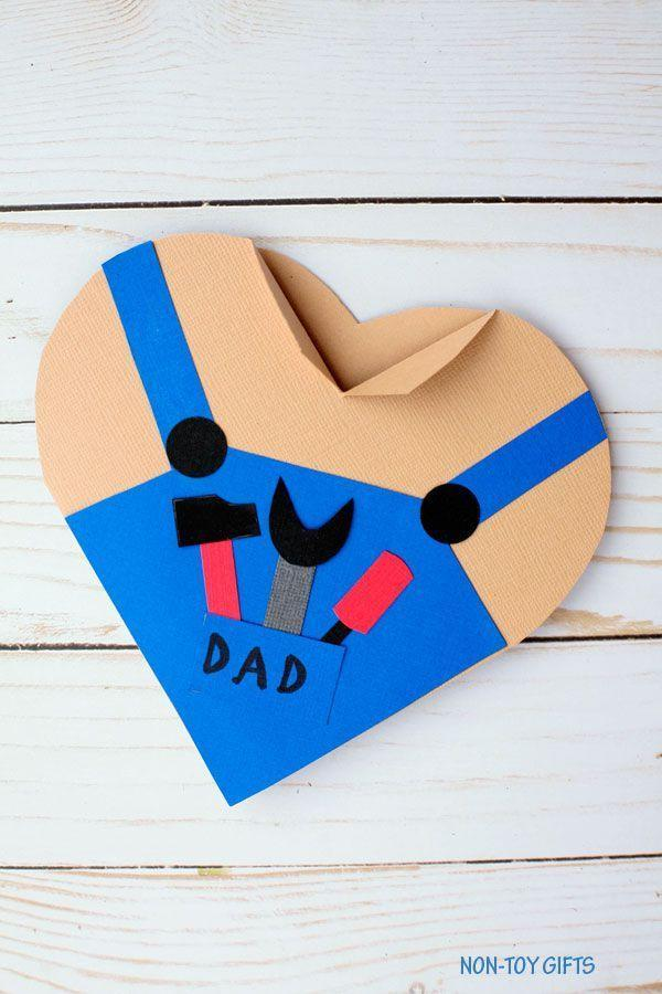 "<p>Even Mr. Fix It has a soft side. Give the guy that mends everything, from loose floorboards to broken hearts, a card that shows him just how much you care. </p><p><em><a href=""https://nontoygifts.com/fathers-day-handy-dad-heart-card/"" rel=""nofollow noopener"" target=""_blank"" data-ylk=""slk:Get the tutorial at Non-Toy Gifts »"" class=""link rapid-noclick-resp"">Get the tutorial at Non-Toy Gifts »</a></em></p><p><strong>RELATED:</strong> <a href=""https://www.goodhousekeeping.com/holidays/fathers-day/g27275337/fathers-day-cards/"" rel=""nofollow noopener"" target=""_blank"" data-ylk=""slk:20 Heartwarming Father's Day Cards for Your Real-Life Superhero"" class=""link rapid-noclick-resp"">20 Heartwarming Father's Day Cards for Your Real-Life Superhero</a><br></p>"