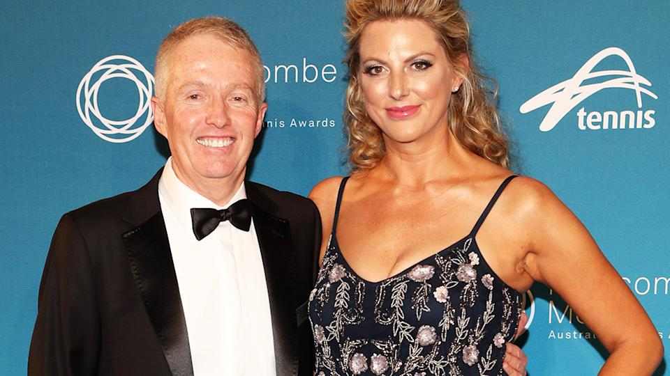 Craig Tiley and wife Ali, pictured here at the Newcombe Medal awards in 2017.