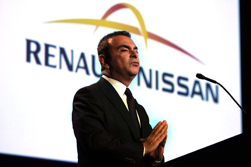Then-chairman and Renault-Nissan Alliance CEO Carlos Ghosn during his heyday in 2012, at the Automotive News World Congress in Detroit, Michigan (AFP Photo/BILL PUGLIANO)