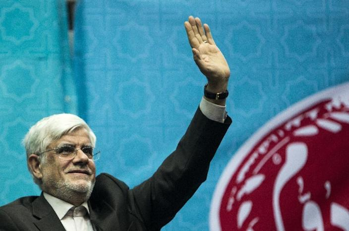 The head of the pro-Rouhani coalition, Mohammad Reza Aref, a former vice president, was in first place in Tehran, with 1,403,608 votes (AFP Photo/Behrouz Mehri)