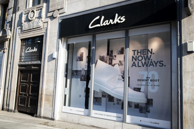 Clarks shoe store on Oxford Street, London. (David Jensen/EMPICS Entertainment)