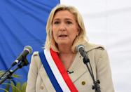 Most polling shows Macron facing off against far-right leader Marine Le Pen in the second round of the presidential election
