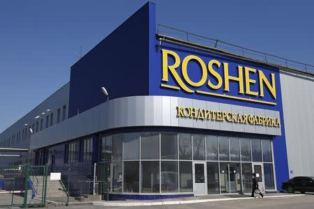 A general view shows a Roshen Confectionery Corporation plant near Lipetsk in this March 28, 2014 file photo. REUTERS/Artur Bainozarov/Files