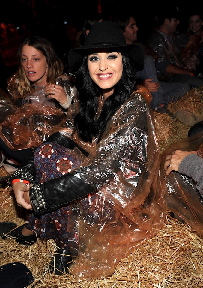 "<p class=""MsoNormal"">Katy Perry came prepared for splatter when she and a bunch of gal pals attended the 4th annual Los Angeles Haunted Hayride VIP Premiere Night, which took place at Hollywood's Griffith Park on Sunday. According to <a target=""_blank"" href=""http://www.people.com/people/article/0,,20637265,00.html"">People</a> magazine, the group headed into a haunted maze, where they remained for about a half hour. ""She seemed to be having a ton of fun and shared lots of laughs with her friends,"" an onlooker told the magazine. ""She loved being scared by all of the characters each time they snuck up on her!"" (10/7/2012)</p>"