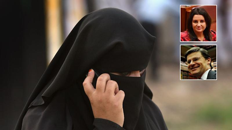 MP Jonathan O'Dea said no face coverings should be allowed in public. Source: Getty Images