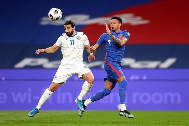 Jesse Lingard in action against San Marino