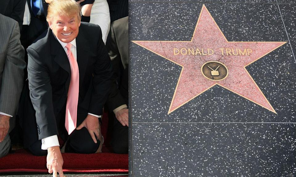 Donald Trump's star destroyed on the Hollywood Walk of Fame