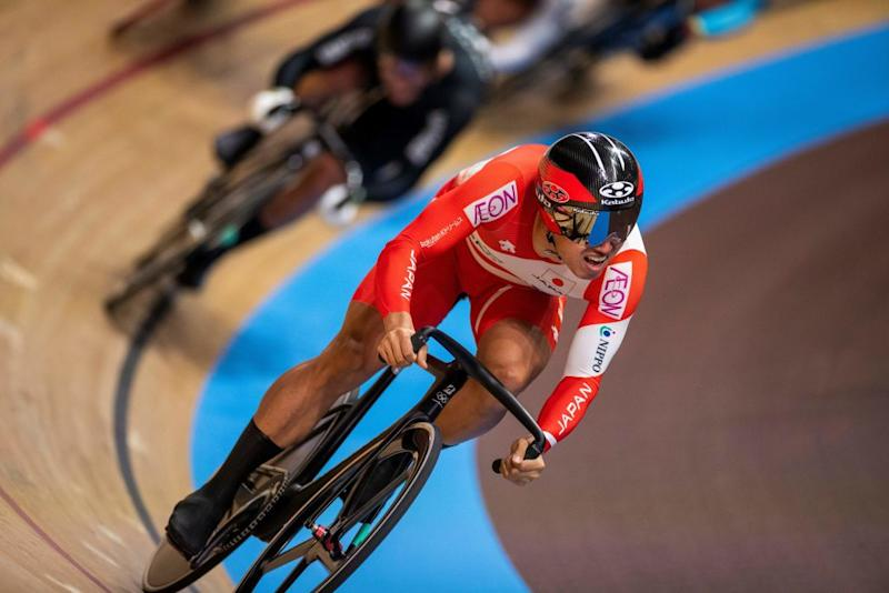 Japans Yuta Wakimoto competes in the Kerin first round during the UCI track cycling World Championship at the velodrome in Berlin on February 27 2020 Photo by Odd ANDERSEN AFP Photo by ODD ANDERSENAFP via Getty Images