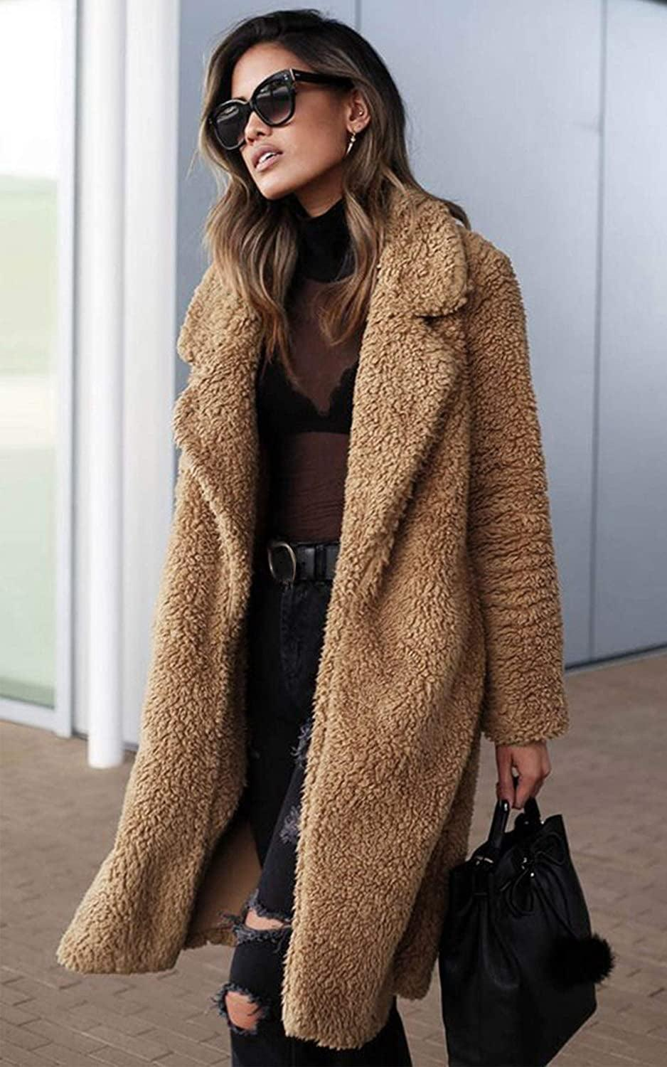 <p>This <span>Angashion Fuzzy Fleece Long Cardigan Coat</span> ($42) is perfect for every day.</p>