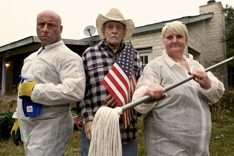 Culture clash: Mark and Tina head to America to clean the hoarder-house of 70 year-old Patrick: Channel 4