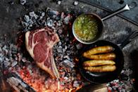 """Chefs everywhere know it: Fire is where the magic happens. <a href=""""https://www.bonappetit.com/recipe/ember-grilled-steak-with-bay-leaf-browned-butter?mbid=synd_yahoo_rss"""" rel=""""nofollow noopener"""" target=""""_blank"""" data-ylk=""""slk:See recipe."""" class=""""link rapid-noclick-resp"""">See recipe.</a>"""