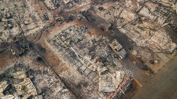 PHOTO: Debris and residences leveled by the wildfire line a neighborhood in Paradise, Calif., Nov. 15, 2018.  (Noah Berger/AP, FILE)
