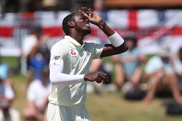 England were beaten by New Zealand but Jofra Archer claims he heard racist abuse on day five. (Photo by MICHAEL BRADLEY / AFP)