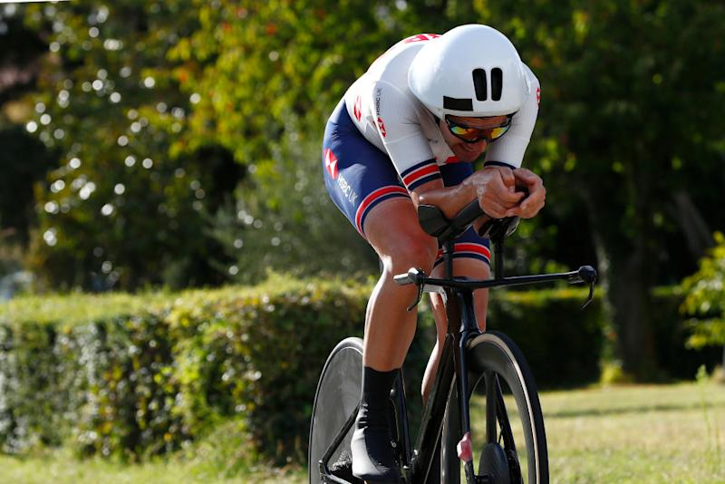 IMOLA ITALY SEPTEMBER 25 Alex Dowsett of The United Kingdom during the 93rd UCI Road World Championships 2020 Men Elite Individual Time Trial a 317km race from Imola to Imola Autodromo Enzo e Dino Ferrari ITT ImolaEr2020 Imola2020 on September 25 2020 in Imola Italy Photo by Bas CzerwinskiGetty Images