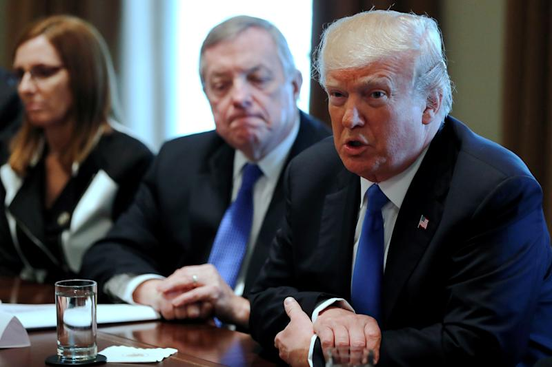 President Donald Trump met with a group of Republicans and Democrats from the House and Senate on Tuesday to discuss immigration plans.