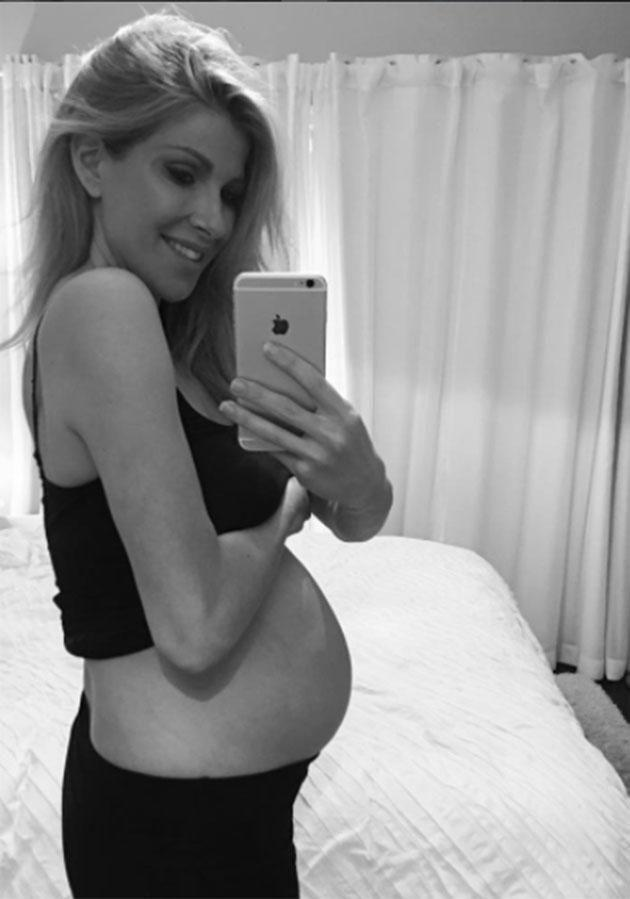 Laura is due to give birth any day now. Source: Instagram
